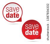 save the date label sign | Shutterstock .eps vector #1387836332