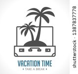 vacation time   travel suitcase ...   Shutterstock .eps vector #1387837778