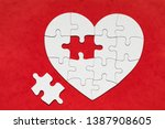Heart Shaped Jigsaw Puzzle On...