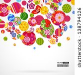 background with floral and... | Shutterstock .eps vector #138794126