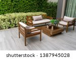 Wooden Chairs In The Outside...