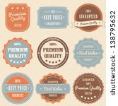 set of vintage high premium... | Shutterstock .eps vector #138795632