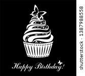happy birthday card. birthday...   Shutterstock . vector #1387988558