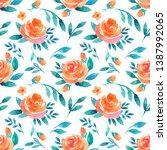 watercolor seamless pattern... | Shutterstock . vector #1387992065