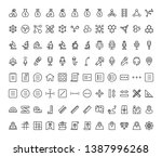 premium quality symbols and... | Shutterstock .eps vector #1387996268