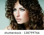 beautiful brunette with... | Shutterstock . vector #138799766