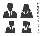 Business Man And Woman Icon...