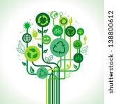 vector ecology concept  ... | Shutterstock .eps vector #138800612