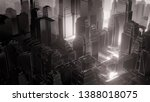 city in fog. atmospheric... | Shutterstock . vector #1388018075