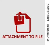 filled attachment to file icon. ... | Shutterstock .eps vector #1388031092
