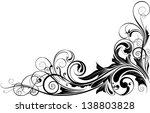 black floral corner.detailed...   Shutterstock .eps vector #138803828