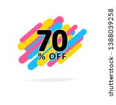 70  off discount. simple sale... | Shutterstock .eps vector #1388039258