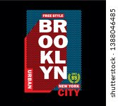 free style brooklyn typography... | Shutterstock .eps vector #1388046485