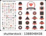 vintage retro vector logo for... | Shutterstock .eps vector #1388048438