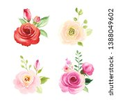 set of floral decors with... | Shutterstock .eps vector #1388049602