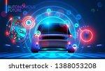 autonomous car on road wireless ...   Shutterstock .eps vector #1388053208
