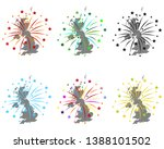 map of great britain with... | Shutterstock .eps vector #1388101502