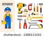 vector character repairer.... | Shutterstock .eps vector #1388111432