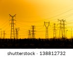 High Voltage Towers Aganist Th...