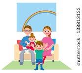 sofa family four | Shutterstock . vector #138813122
