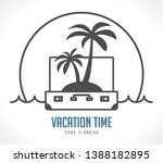 vacation time   travel suitcase ...   Shutterstock .eps vector #1388182895