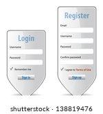 login form website interface... | Shutterstock . vector #138819476