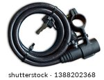 bicycle lock with cable... | Shutterstock . vector #1388202368