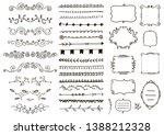 vector floral ornament dividers.... | Shutterstock .eps vector #1388212328