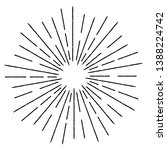 radial lines in circle form for ... | Shutterstock .eps vector #1388224742