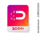 white magnet with money icon... | Shutterstock .eps vector #1388233262
