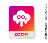 white co2 emissions in cloud... | Shutterstock .eps vector #1388234618