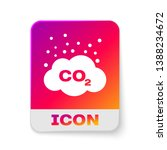 white co2 emissions in cloud... | Shutterstock .eps vector #1388234672