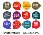 sale quality badges. round... | Shutterstock . vector #1388236592