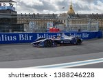 Small photo of PARIS, FRANCE - April 27th, 2019 : Robin Frijns from Envision Virgin Racing Team during the ePrix ABB FIA Formula-E, the class of motorsport 100% electric-powered cars.