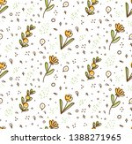 flower seamless pattern in... | Shutterstock .eps vector #1388271965