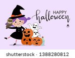 halloween party invitation card ... | Shutterstock .eps vector #1388280812