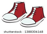 Clipart Of A Pair Of Red Keds...
