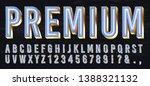 neon light box font. premium...