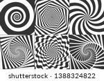 hypnotic spiral. swirl... | Shutterstock .eps vector #1388324822