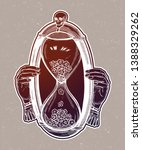 decorative antique hourglass... | Shutterstock .eps vector #1388329262