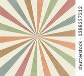 sunburst old background retro... | Shutterstock . vector #1388337212