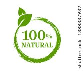 natural product sign isolated...   Shutterstock . vector #1388337932