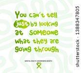 mental health awareness month ... | Shutterstock .eps vector #1388347805