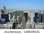 aerial view of new york city's... | Shutterstock . vector #138838526