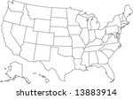 united states of america map in ... | Shutterstock .eps vector #13883914