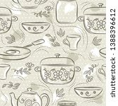 beige seamless patterns with... | Shutterstock .eps vector #1388396612