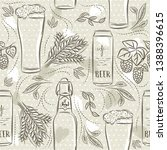 beige seamless patterns with... | Shutterstock .eps vector #1388396615