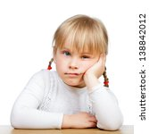 Portrait Of Unhappy Little Gir...