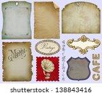 vintage label set | Shutterstock . vector #138843416