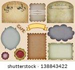 vintage label set | Shutterstock . vector #138843422
